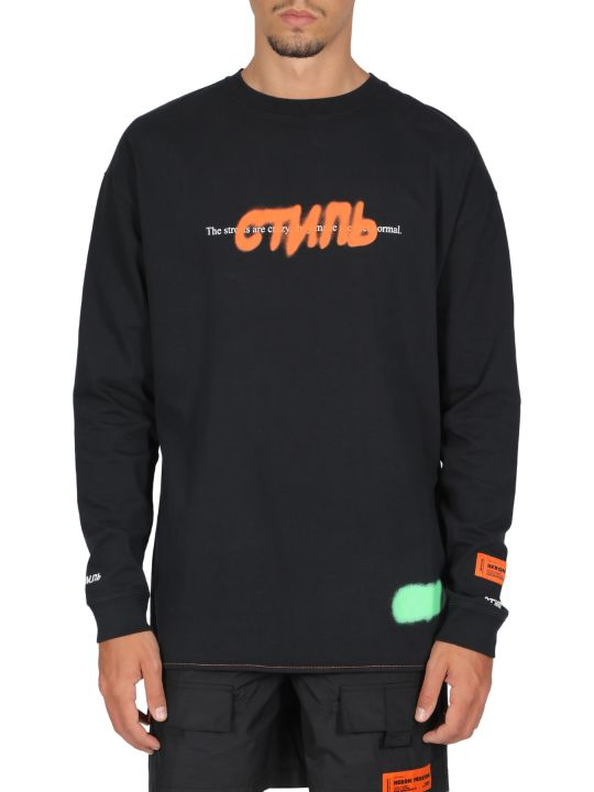 HERON PRESTON T-shirt Reg Ls Ctnmb Spray