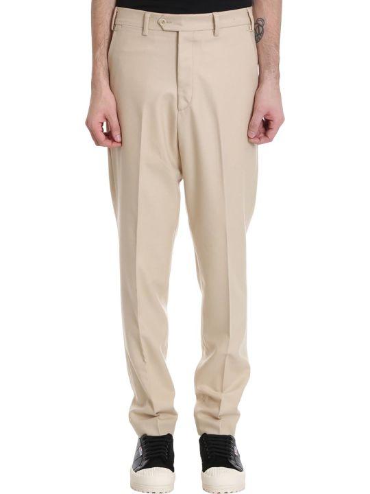 Danilo Paura Edison Pants In Beige Wool