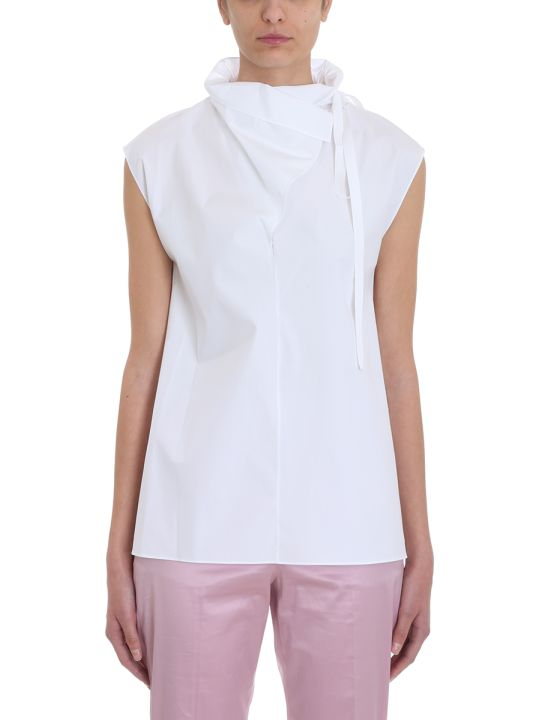 Theory Funnel Neck Top