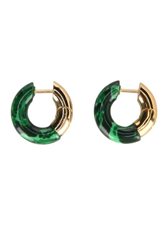 Bottega Veneta Malachite Hoop Earrings