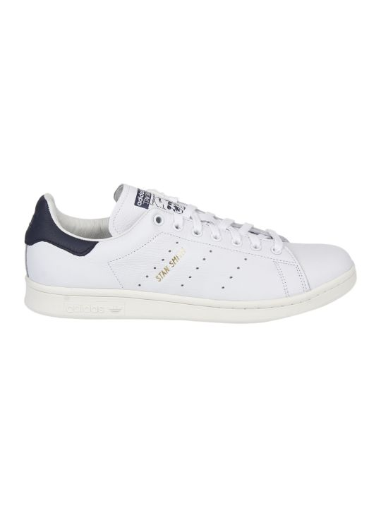 Adidas Originals Stan Smith White And Blue Sneakers
