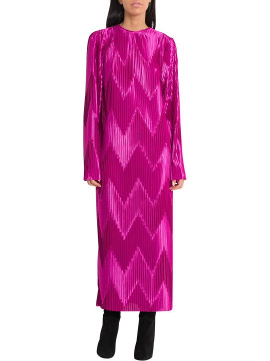 Givenchy Zig-zag Pleated Midi Dress
