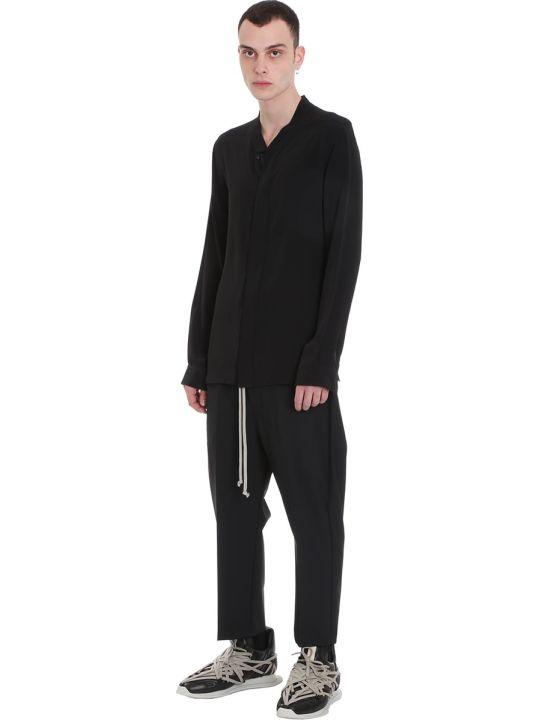 Rick Owens Faun Shirt Shirt In Black Tech/synthetic