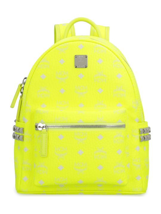 MCM Stark Neon Visetos Backpack With Studs