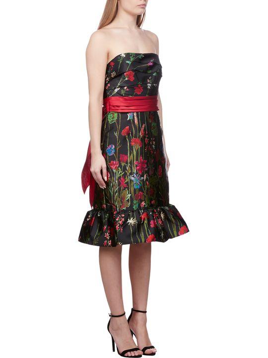 Marchesa Notte Floral Bandeau Dress