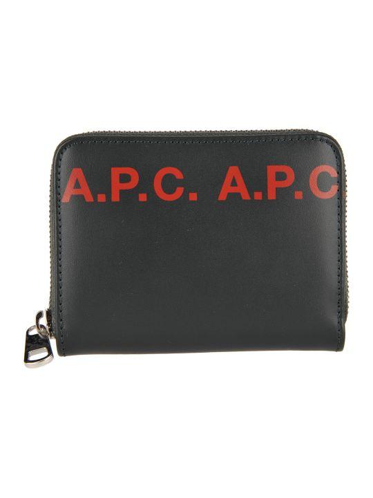 A.P.C. Dallas Logo Wallet