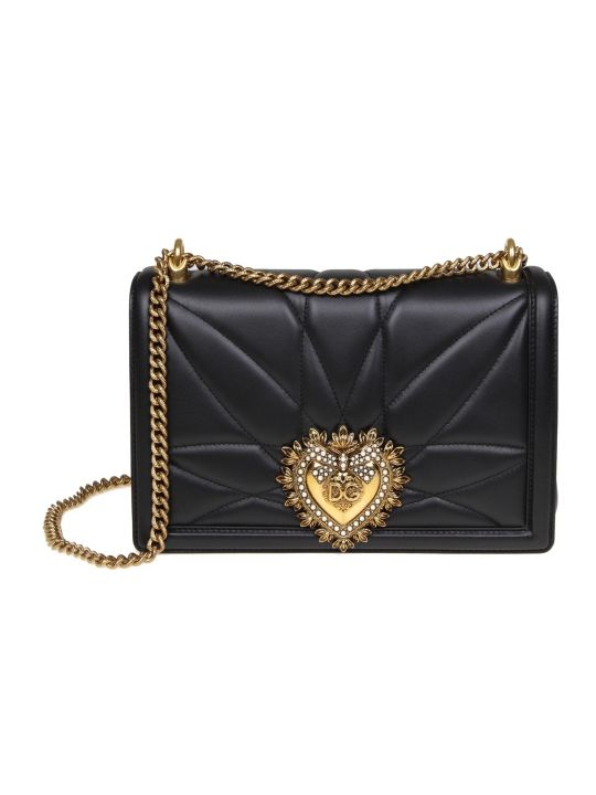 Dolce & Gabbana Big Devotion Bag In Nappa Matelassé Color Black