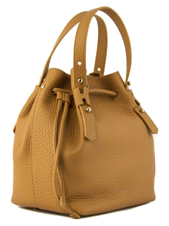 Hogan Bucket Bag In Brown Leather
