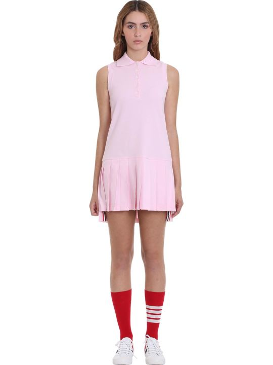 Thom Browne Dress In Rose-pink Cotton