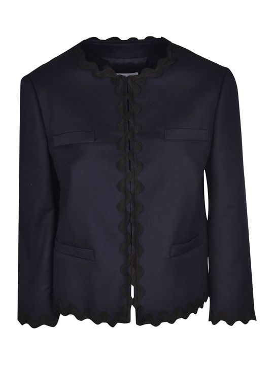 Valentino Scalloped Cropped Jacket