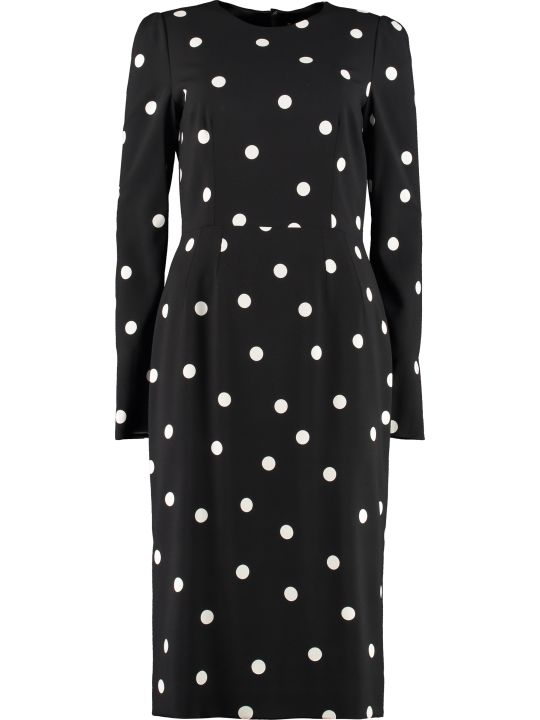 Dolce & Gabbana Polka Dot Print Sheath Dress