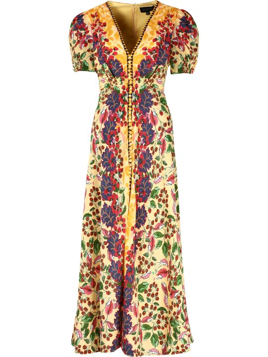 Saloni Lea Printed Silk Dress