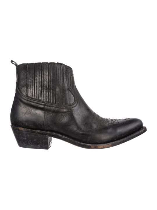 Golden Goose  Leather Heel Ankle Boots Booties