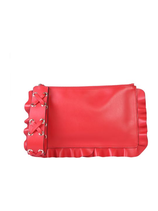 RED Valentino Clutch Rock Ruffles