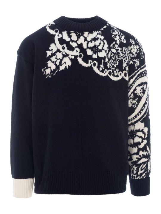 Sacai Floral Intarsia Sweater