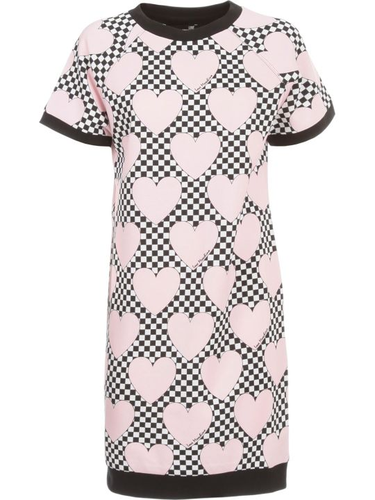 Love Moschino Knitted Dress S/s W/hearts Race