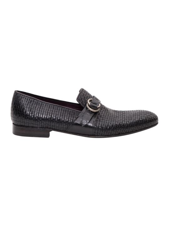 Lidfort Braded Leather Loafer