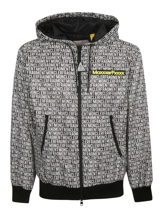 Moncler Genius Logo All-over Zipped Hoodie