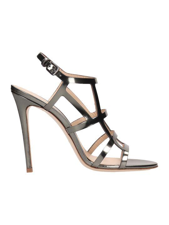 Dei Mille Silver Mirror Leather Sandals