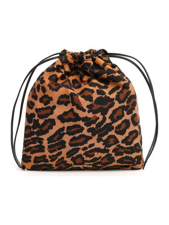 Miu Miu Leopard-printed Pouch