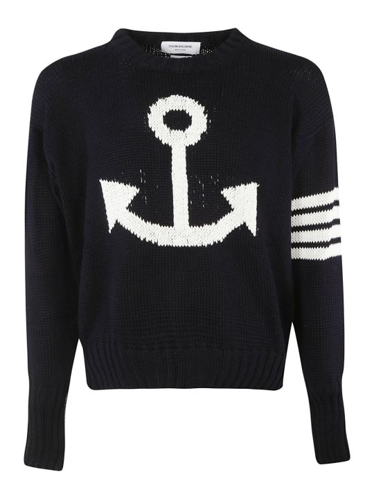 Thom Browne 4-bar Anchor Icon Sweatshirt