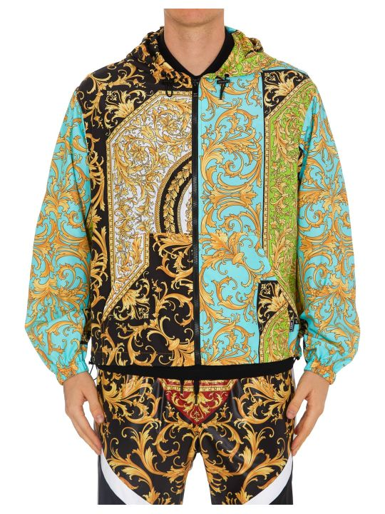 Versace Fluo Barocco Jacket With Hoodie