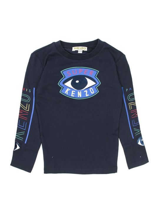 Kenzo Blue Cotton T-shirt