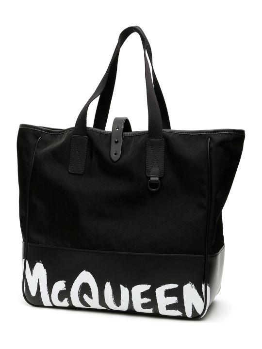 Alexander McQueen Graffiti Logo Shopper 35