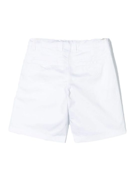Fay White Stretch Cotton Shorts