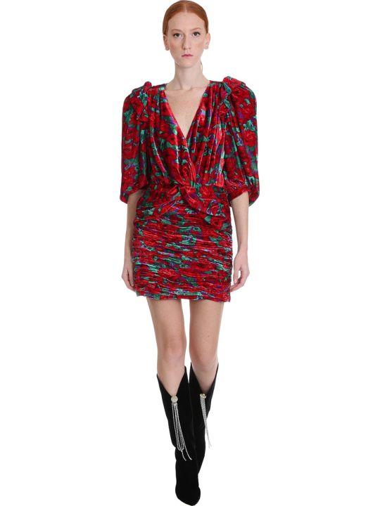 Magda Butrym Dress In Red Velvet