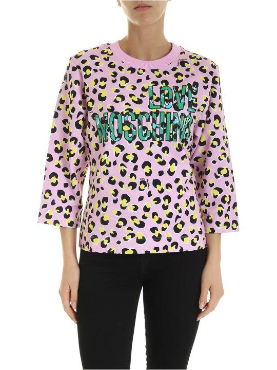 Love Moschino Leopard Crewneck