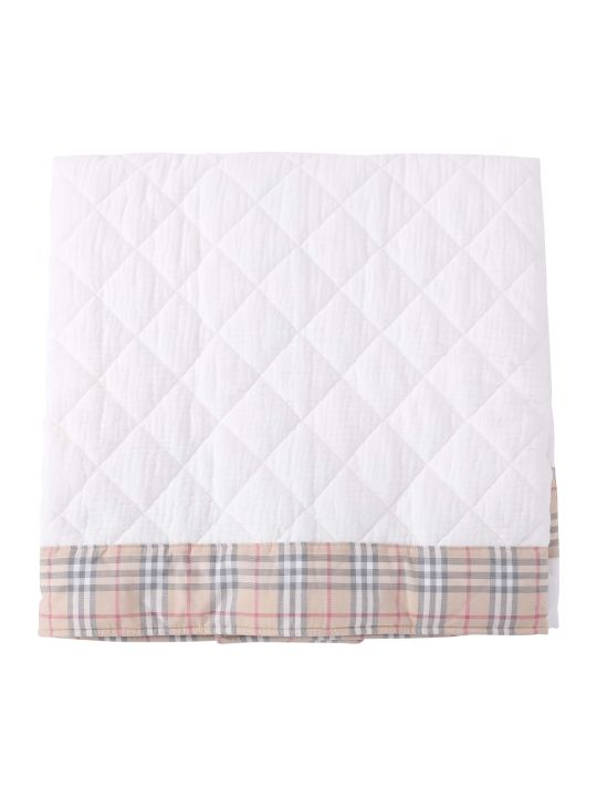 Burberry White Babykids Blanket