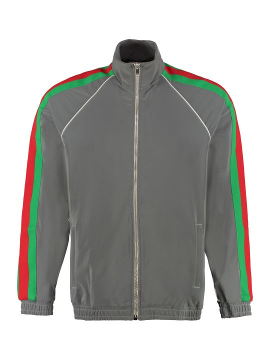 Gucci Reflective Jersey Full-zip Sweatshirt