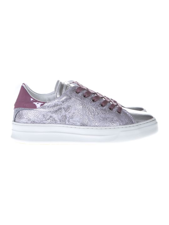Crime london Battere Pink & Silver Sneakers