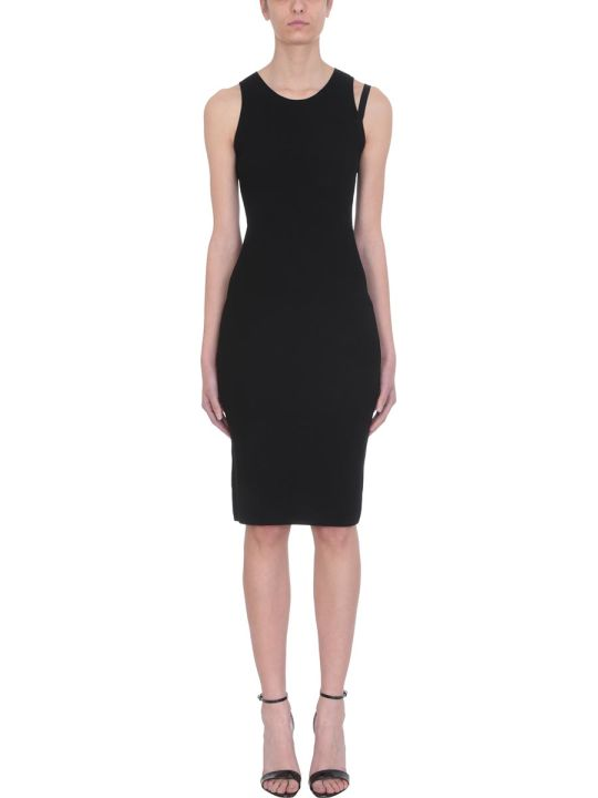Helmut Lang Parachute Black Viscose Dress