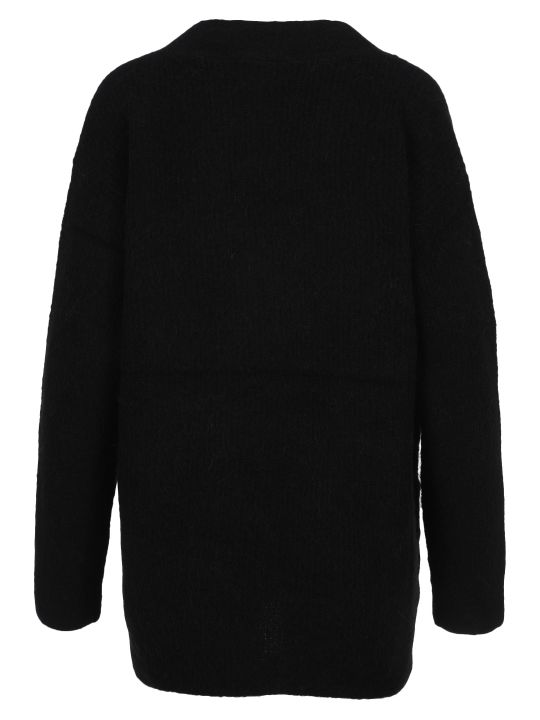 Ganni Soft Wool Knit V-neck Pullover