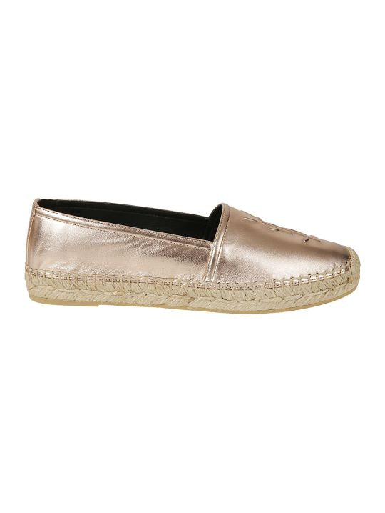 Saint Laurent Logo Embossed Espadrilles