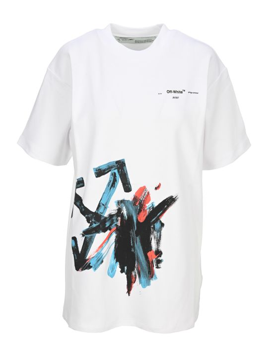 Off-White Off White Brushstroke Arrow T-shirt