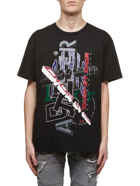 Dior Graphic Logo Print T-shirt