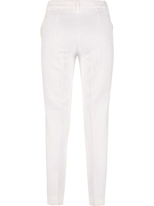 Boutique Moschino Cotton Jacquard Trousers