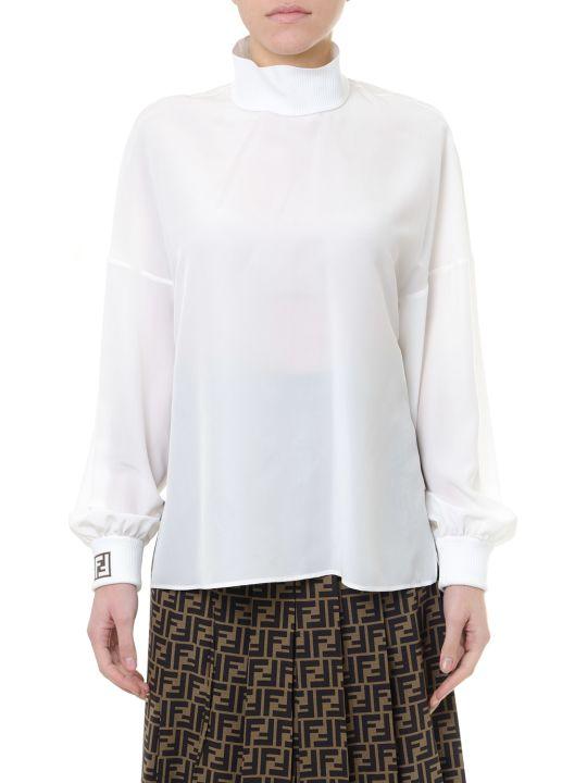 Fendi White Silk Shirt