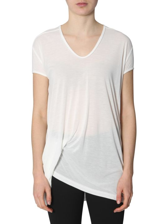 Rick Owens T-shirt With Draping