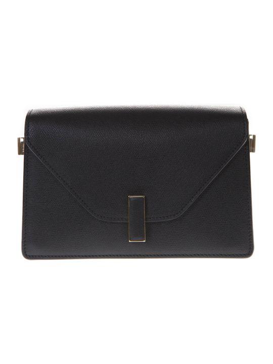 Valextra Black Twist Lock Shoulder Bag In Leather
