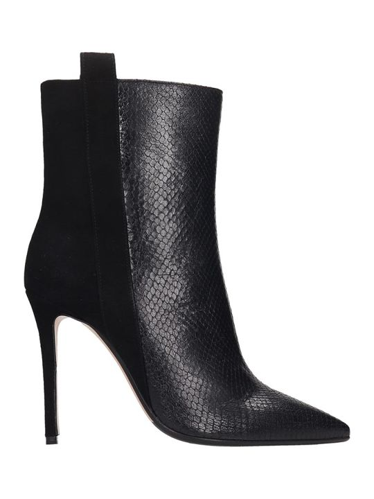 The Seller Ankle Boots In Black Suede And Leather