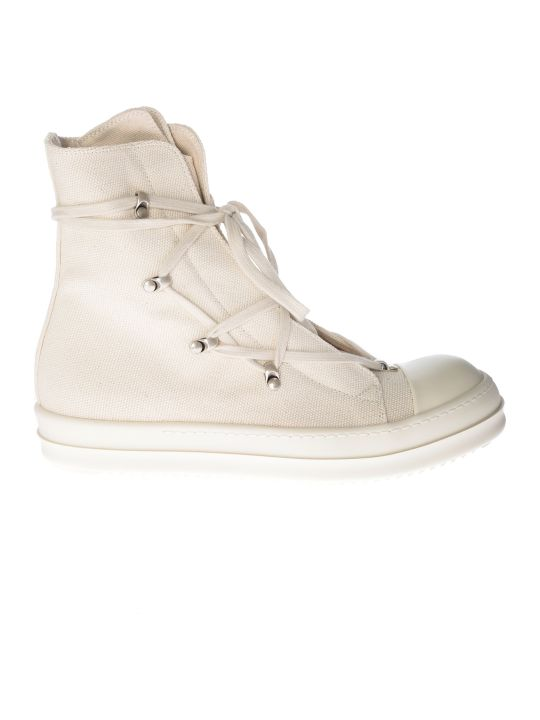 Rick Owens High Top Laced-up Sneakers