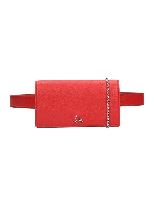 Christian Louboutin Budoir Shoulder Bag In Red Leather