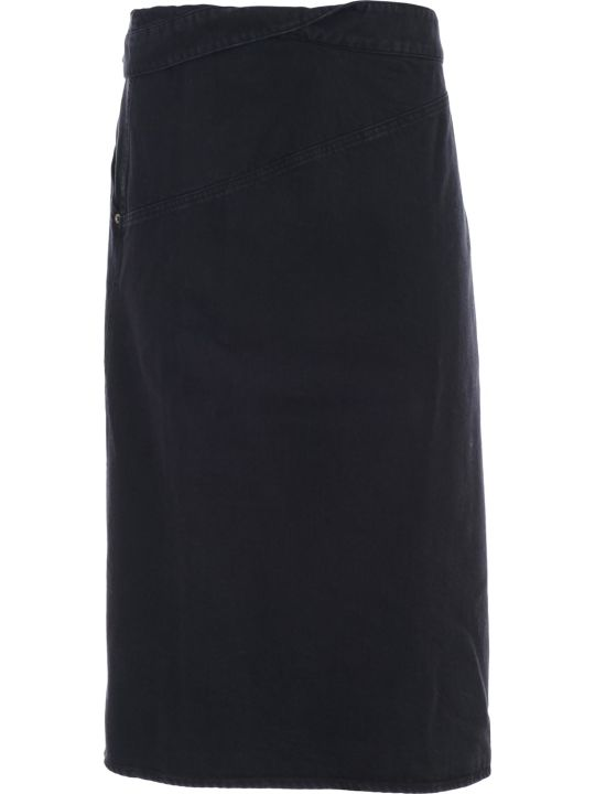 Jacquemus Denim Foldover Skirt