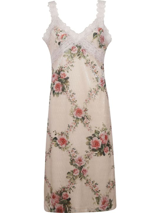 Blumarine Lace Floral Dress