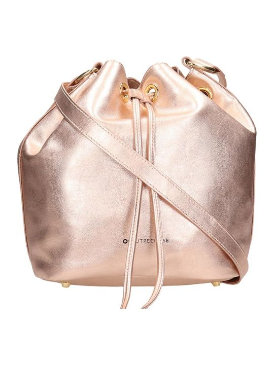 L'Autre Chose Pink Laminated Bag In Black Leather