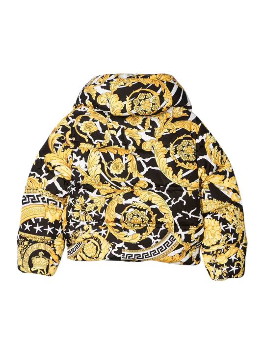 Young Versace Goose-feed Jacket